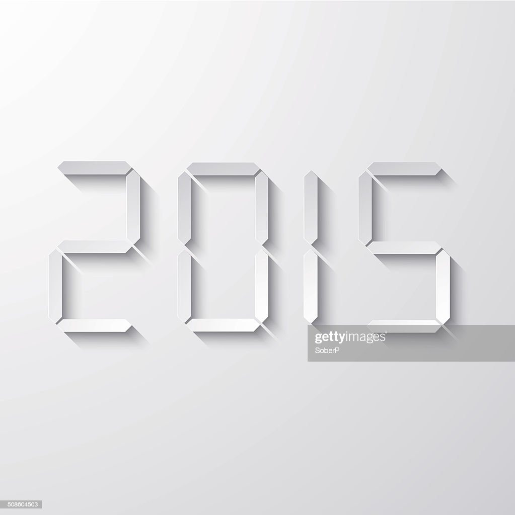 Vector moderno nuevo año 2015 background. : Arte vectorial