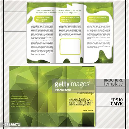 Vector Modern Simple Light Business Brochure Template In Green