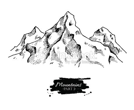 vector mountains drawing hand drawn mountains illustrations vector art thinkstock. Black Bedroom Furniture Sets. Home Design Ideas