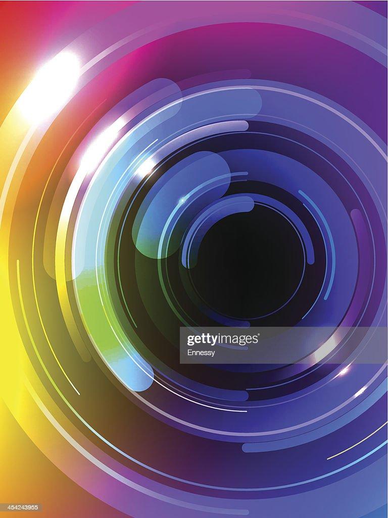 Vector Multicolor Abstract Background : Vector Art
