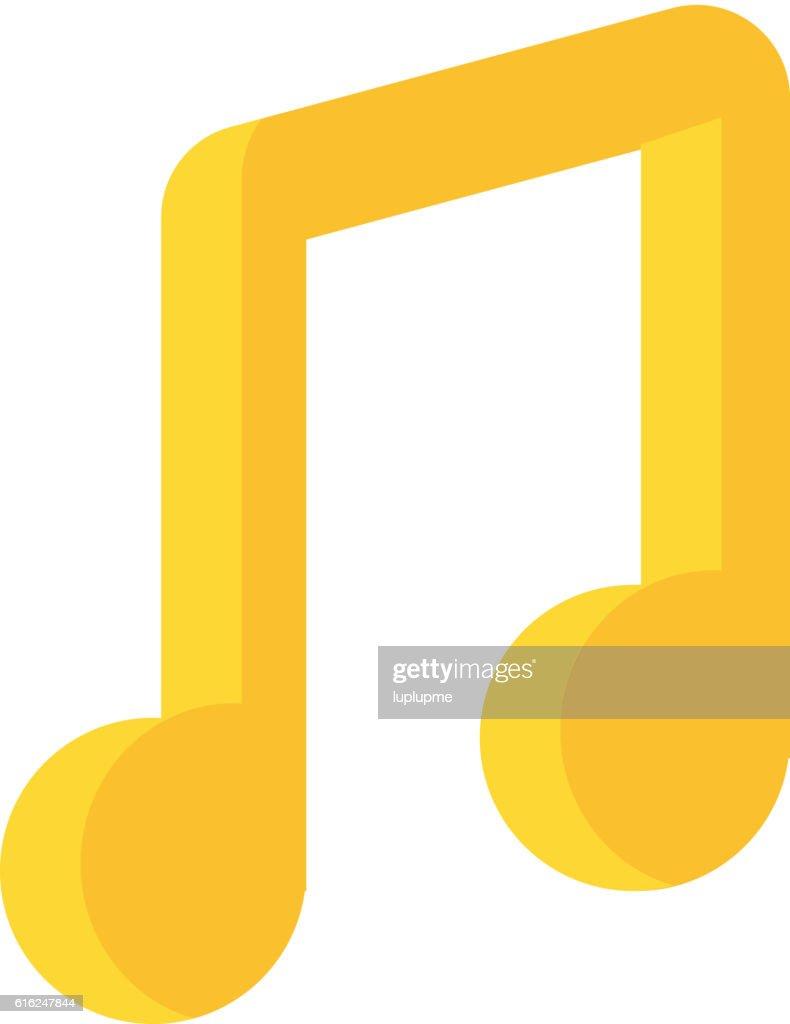 Vektor-Musik-Hinweis : Vektorgrafik