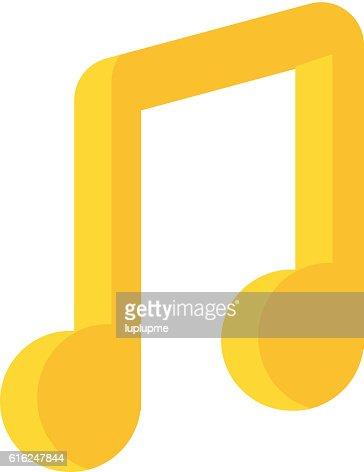 Vector música NOTA : Arte vetorial