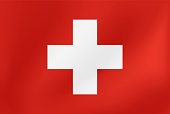 Vector national flag of Switzerland - Illustration for sports competition, traditional or state events.