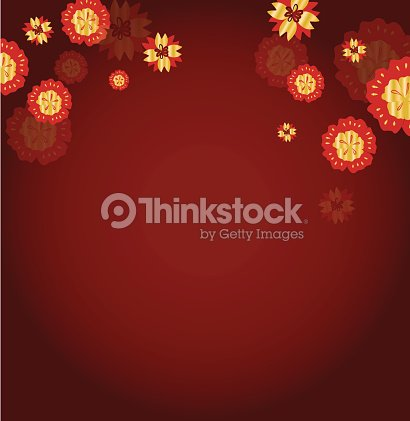 vector of abstract flower for chinese new year background vector art