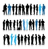 Vector of Active Business People