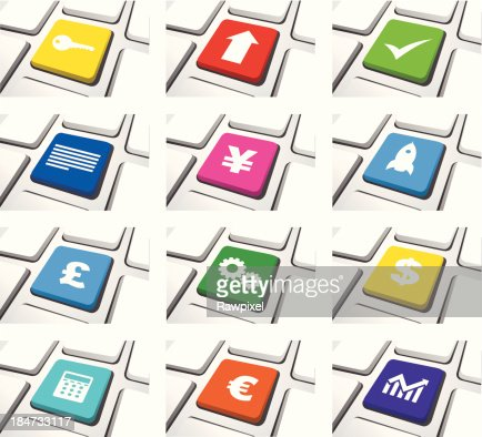 Vector of Computer Icon Sets : Vector Art