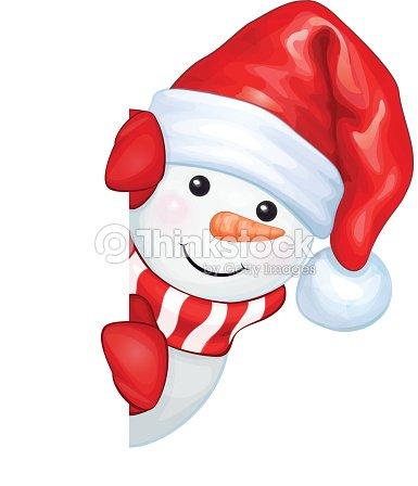 Vecteur de divertissement bonhomme de neige se cacher par vide isol clipart vectoriel thinkstock - Clipart bonhomme de neige ...