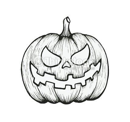 vector of hand draw halloween pumpkin vector art thinkstock
