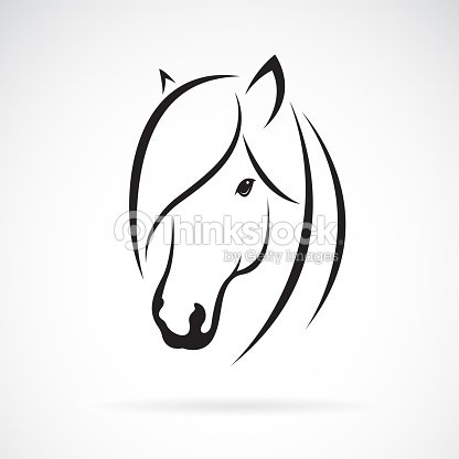Vector of horse head design on white background. Animal. Horse symbol. Easy editable layered vector illustration.
