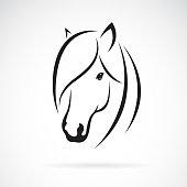 Vector of horse head design on white background. Animal. Horse symbol. Easy editable layered vector illustration.