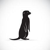 Vector of meerkats design on white background. Wild Animals.