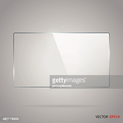 Vector of rectangle glass frame. : stock vector