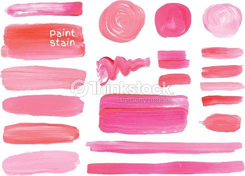 vektor lfarbe textur flecken set makeup farben vektorgrafik thinkstock. Black Bedroom Furniture Sets. Home Design Ideas