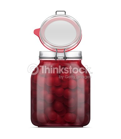 Vector Open Labeled Swing Top Bale Glass Jar Filled With