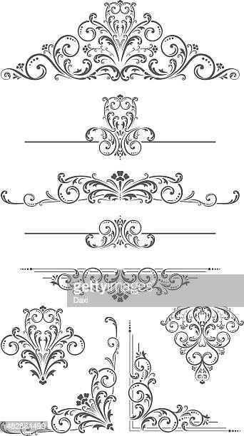 Vector Ornament - Dividers, Corners and Scrolls