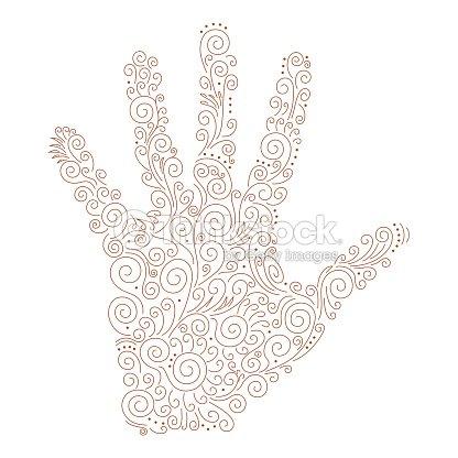 Vector Ornament On The Palm Of Henna Vector Art Thinkstock