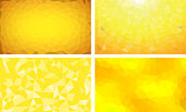 vector pack low poly background yellow color