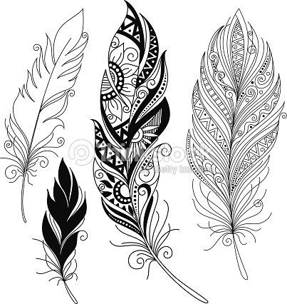 vector peerless decorative feather vector art thinkstock. Black Bedroom Furniture Sets. Home Design Ideas