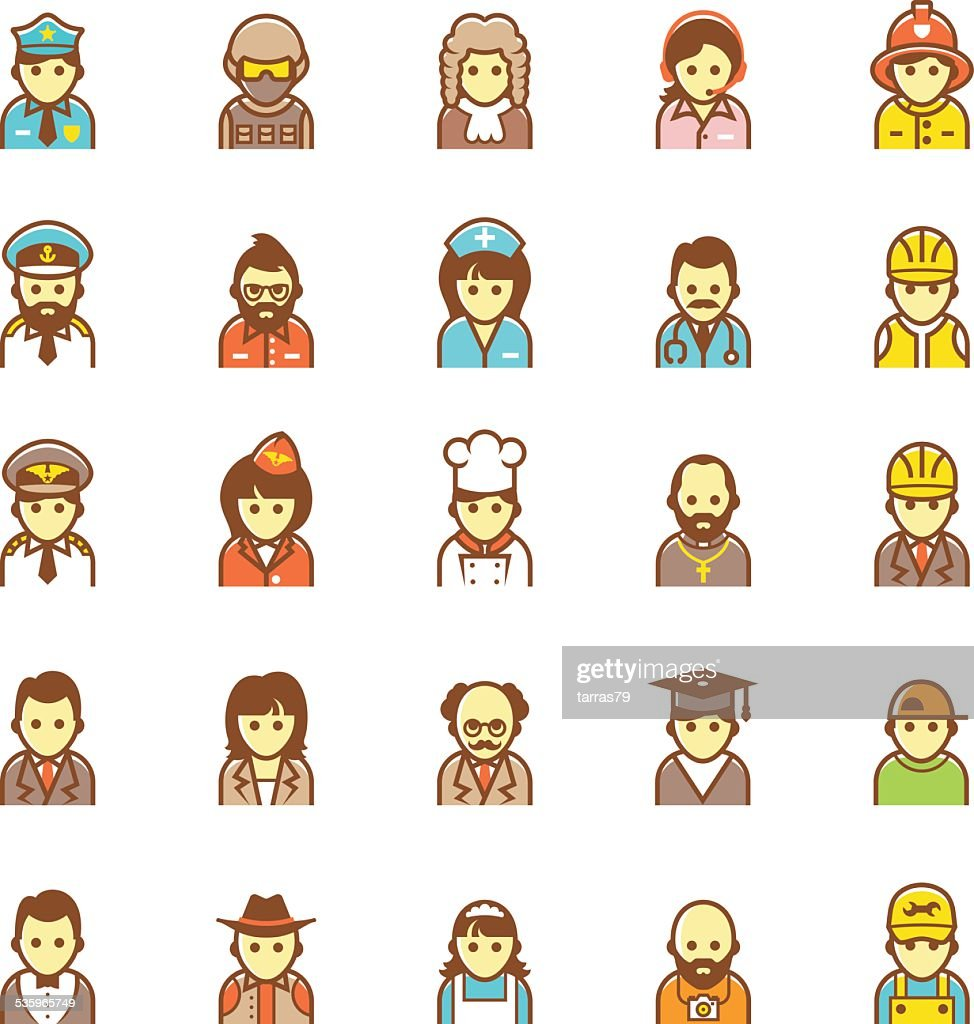 Vector people icon set : Vector Art