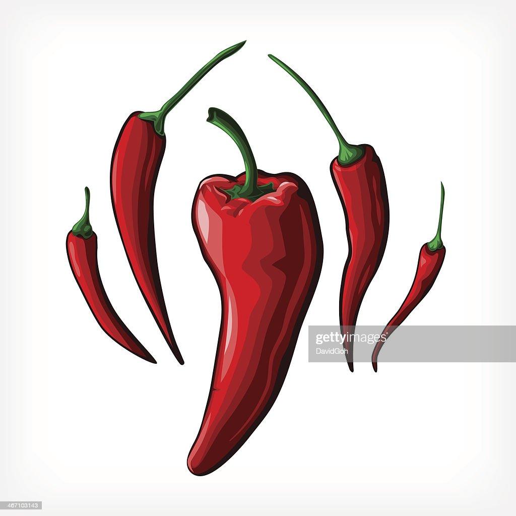 Vector Peppers : Vector Art