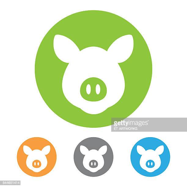 Vector pig icon