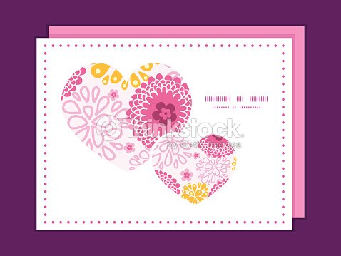 Vector pink field flowers heart symbol frame pattern invitation vector pink field flowers heart symbol frame pattern invitation greeting vector art stopboris Image collections