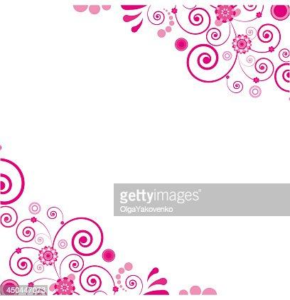 vektor rosa blumenmuster floral hintergrund vektorgrafik getty images. Black Bedroom Furniture Sets. Home Design Ideas