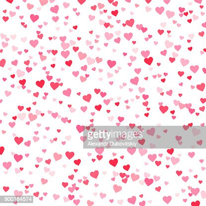 Vector pink & red Valentines Days hearts background : Vector Art