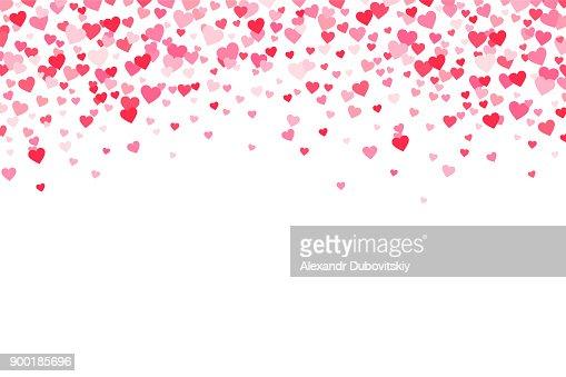 Vektor-rosa & roten Valentines Tage Herzen Hintergrund : Vektorgrafik