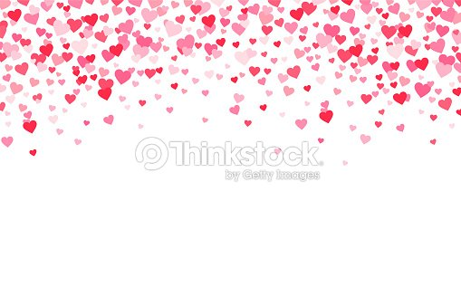 Vector Pink Red Valentines Days Hearts Background Vector Art