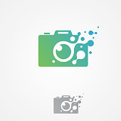 Vector pixel camera icon modern symbol for graphic and web design. Abstract design camera icon flat. Vector illustration EPS.8 EPS.10