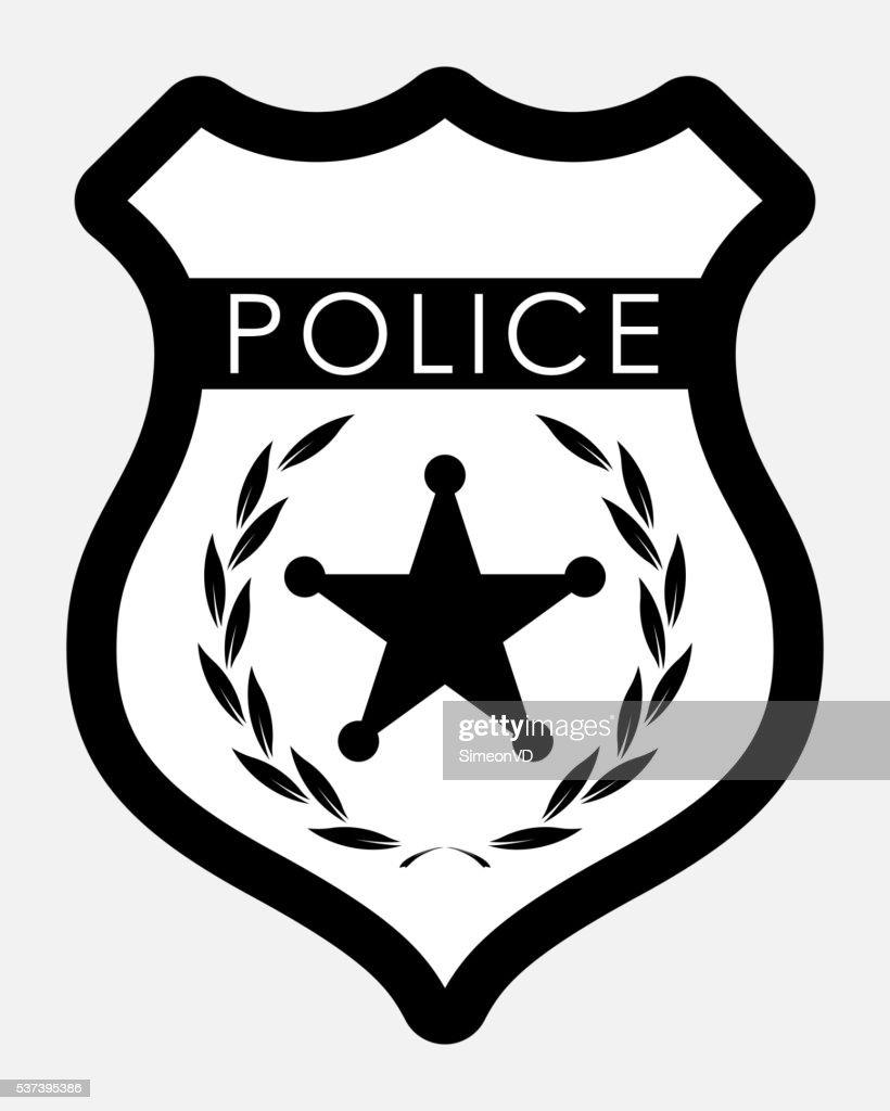 vector police badge isolated illustration vector art thinkstock rh thinkstockphotos in police badge vector png vector police badge custom