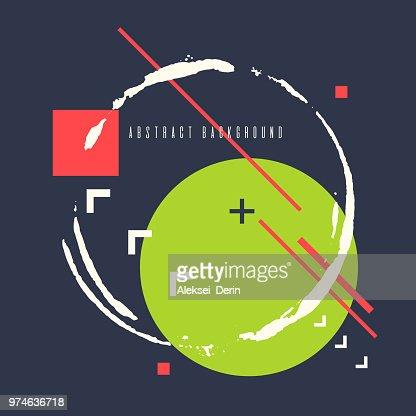Affiche De Vecteur Fond Plat Style Minimaliste Geometrique Art