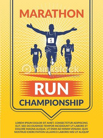 vector poster for sport club marathon runners vector art thinkstock