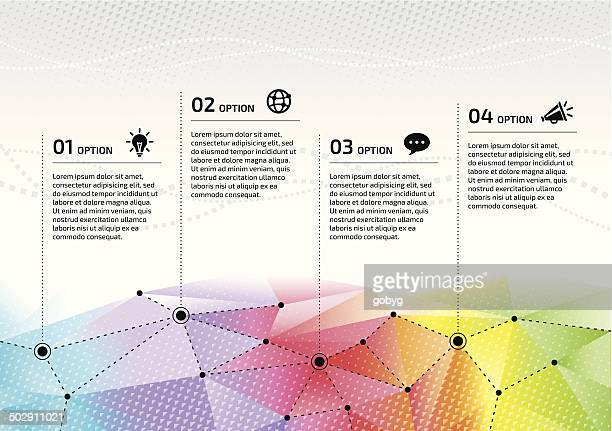 Vector rainbow network options graphic design