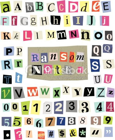 Vector ransom note 1 cut paper letters numbers symbols vector art vector ransom note 1 cut paper letters numbers symbols spiritdancerdesigns Images