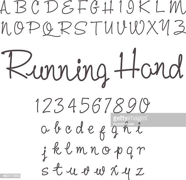 vector real hand alphabet