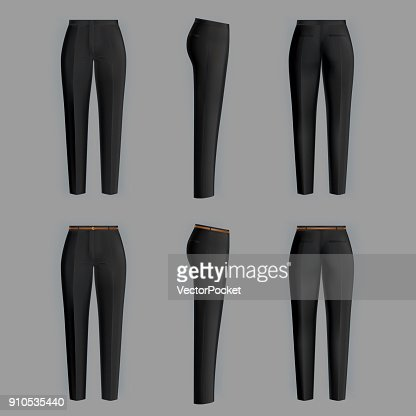 Vector realistic formal trousers for women : stock vector