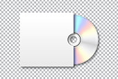 Vector realistic isolated disk for decoration and covering on the transparent background. Blank template for brand identity.