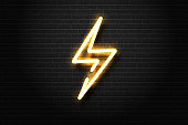 Vector realistic isolated neon sign of energy for decoration and covering on the wall background. Concept of lightning and electricity.