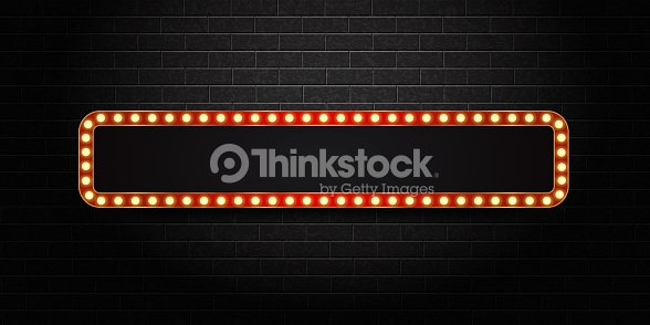 vector realistic isolated retro sign neon billboard on the wall