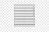 Vector realistic isolated vertical window blinds for decoration and covering on the transparent background. Concept of home interior and window shutters.