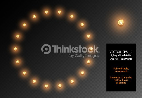 Vector Realistic Light Bulb Translucent Isolated Design Element Glow