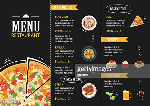 Vector Restaurant Cafe Menu Template Flat Design Vector Art  Thinkstock