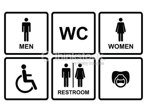 Vettoriale Icone Di Toilette Pubblica Arte vettoriale   Thinkstock