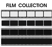Vector retro black and white film collection.