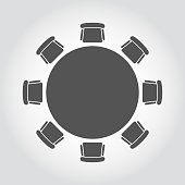 Vector round table icon