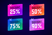 Vector sale coupons with scissors. For shop promotions and product sales.