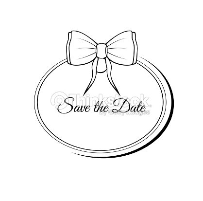 Vector Save The Date Ornate Frame Easy To Edit Wedding Invitation ...