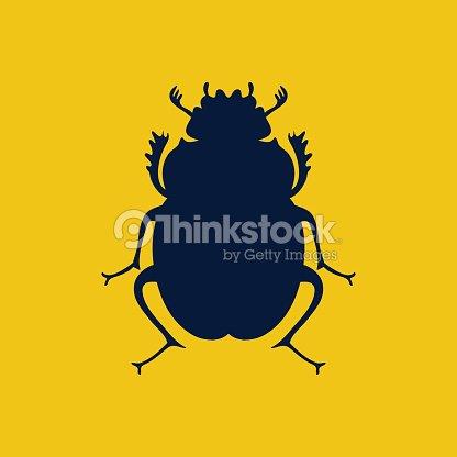 Vector Scarab Beetle Egyptian Symbol Lady Bug Logo Template Vector